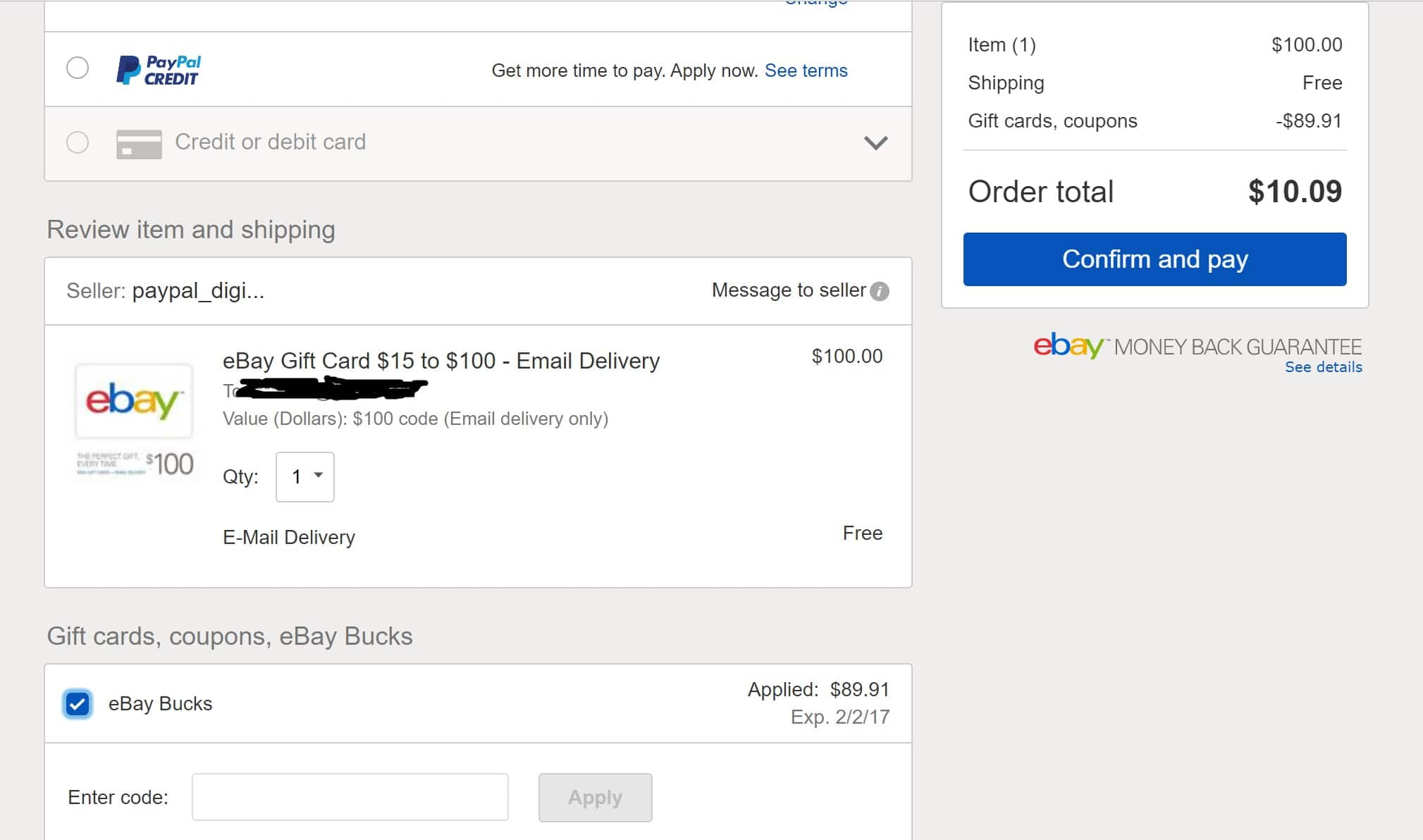 Psa Ebay Bucks Successfully Used On Gift Card Purchase Slickdeals