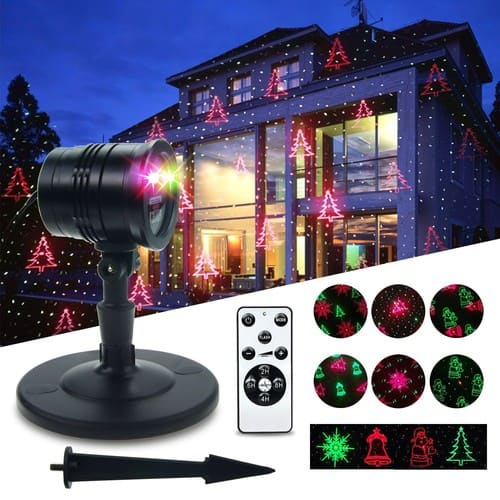 Garden Christmas Laser Lights THZY Christmas Decoration Light Star Laser Projector 2 Color Motion Red and Green,Moving Star projector Aluminum Alloy for Halloween Outdoor $32.3