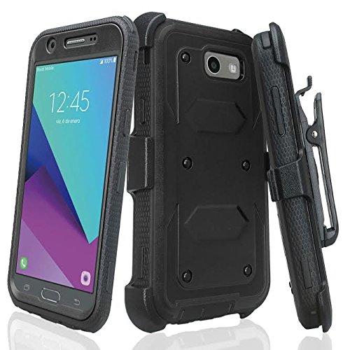 $3.99+Free Shipping+Galaxy J7v Case / J7 (2017) / J7 Perx Case / J7 Sky Pro / Galaxy J7 Prime Case, Heavy Duty Belt Clip Holster, [Built In Screen Protector] Full Body Coverage Rug