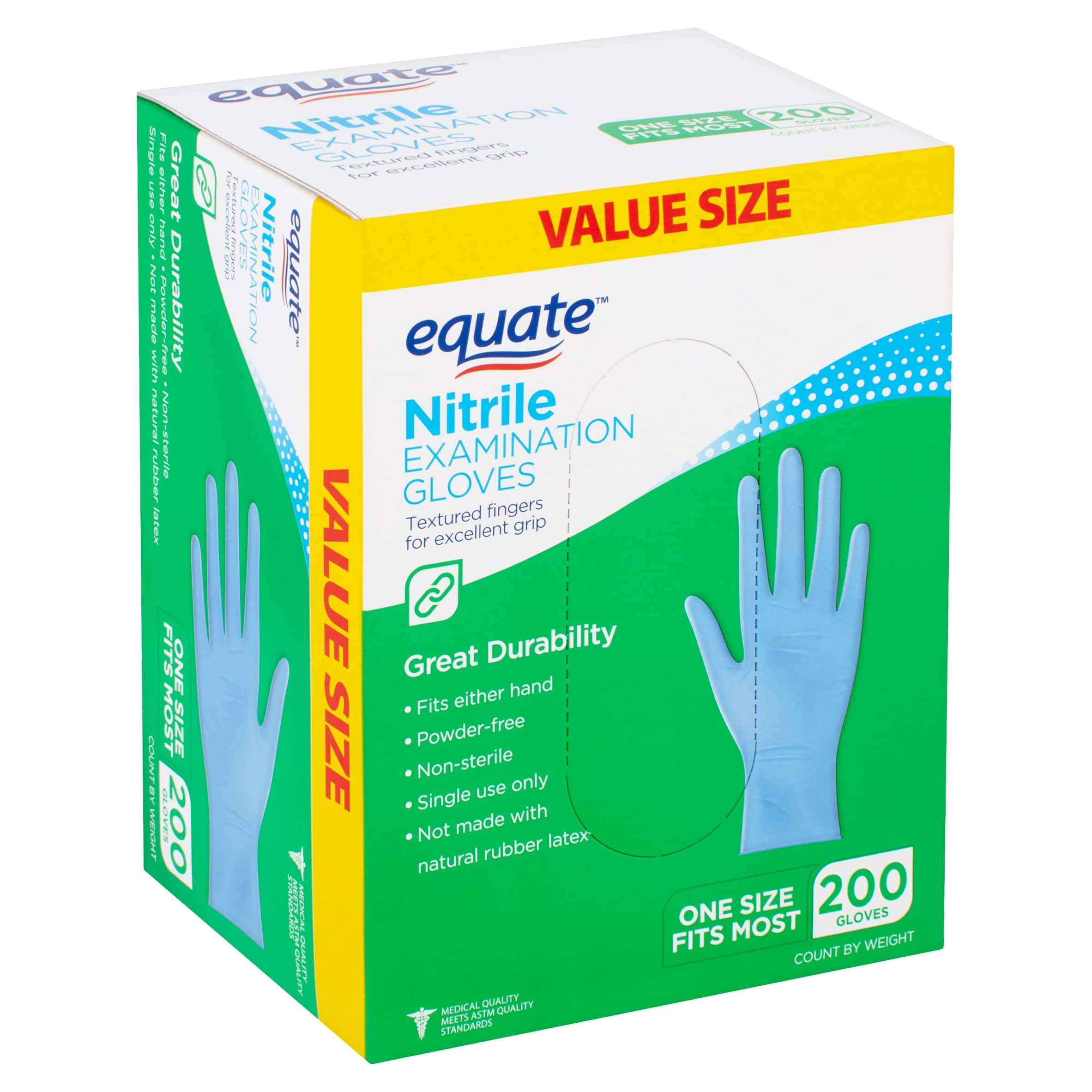 Nitrile Gloves 200 count at Walmart online - 11.98$