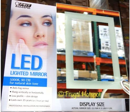 "Feit LED Mirror 24"" X 32"" - $50 + $6 shipping COSTCO"