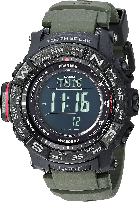 Casio Men's Pro Trek Stainless Steel Quartz Watch with Resin Strap (Model: PRW-3510Y-8CR) $160