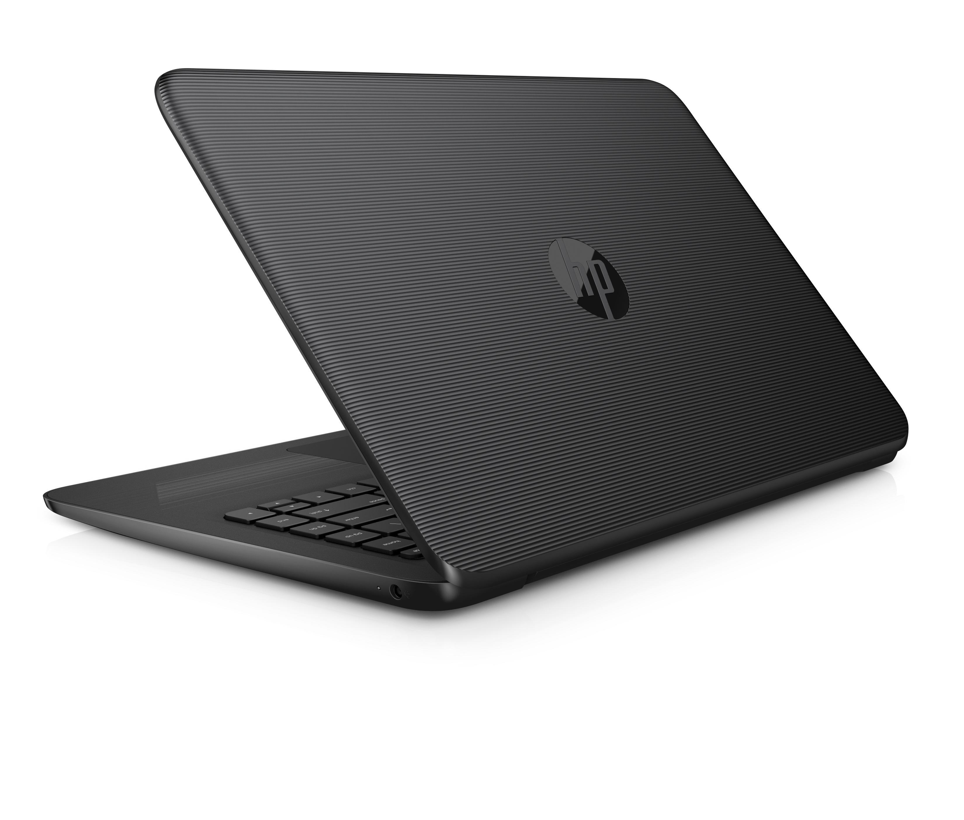 "$139 HP Stream 14"" Jet Black Laptop Intel Celeron N3060 4GB RAM, 32GB Storage"