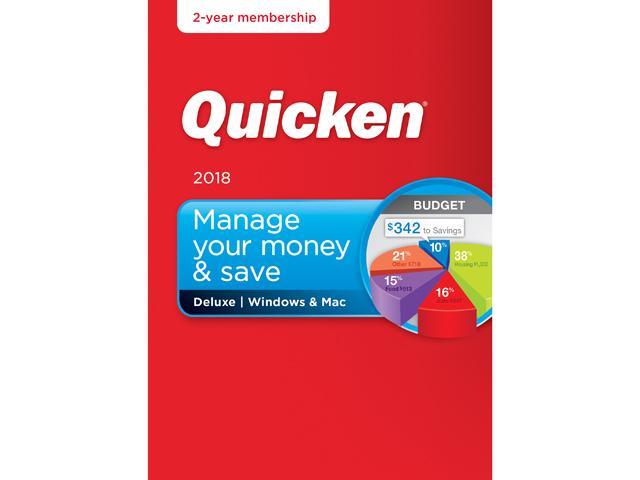 Quicken Deluxe 2018 $39.99 Quicken Premiere 2018 $59.99 @ Newegg AC/FS