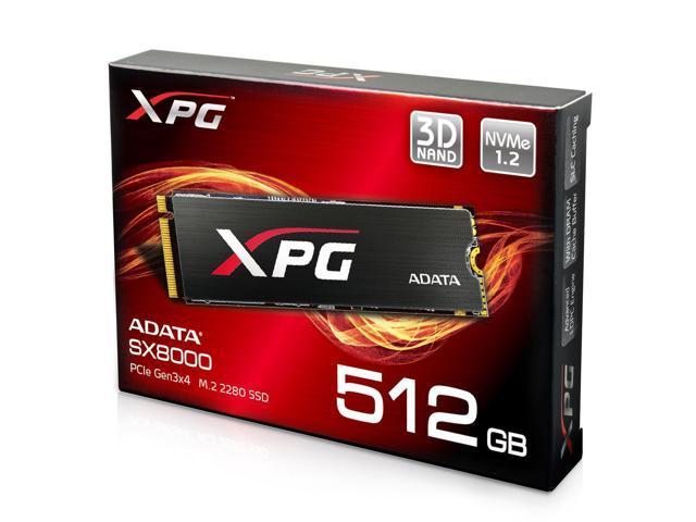 XPG SX8000 512GB M.2 PCIe NVMe MLC SSD $164.99 @ Newegg AC