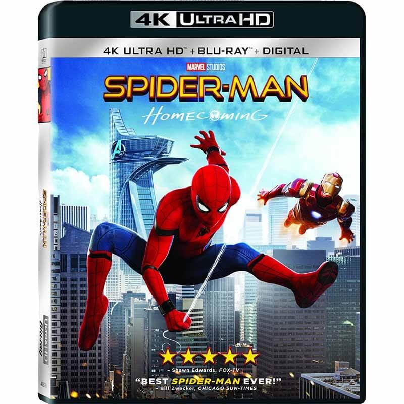 Spider-man: Homecoming [4K UHD] [Blu-Ray] [Digital] $22.99