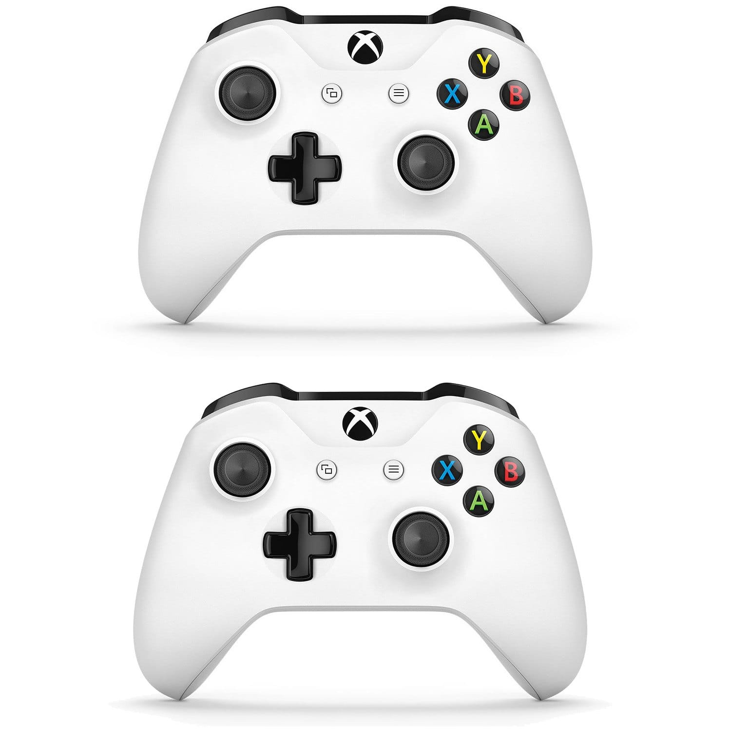 2 Pack Combo) XBOX ONE S WIRELESS CONTROLLER GLACIER WHITE WITH