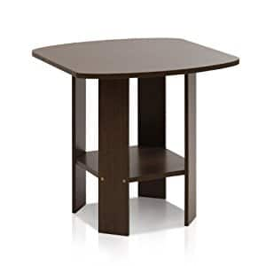 Furinno 11180DBR Simple Design End/Side Table, Dark Brown $11.10 FS/Prime