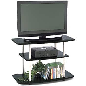 3-Tier TV Stand for Flat Panel Television Up to 32-Inch or 80-Pound, Black $23.95 + Tax FS/Prime