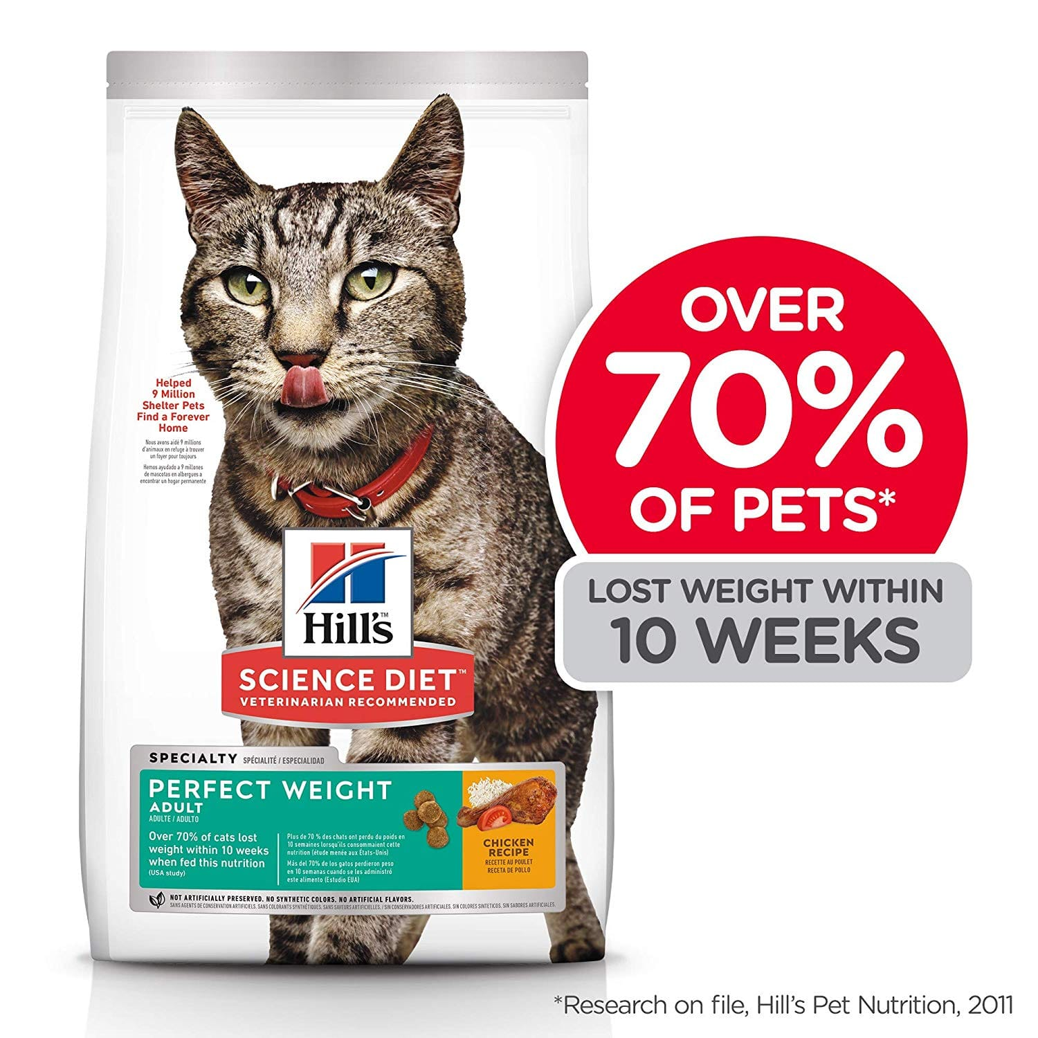 Select Amazon Prime customers |15lb Hill's Science Diet Dry Cat Food, Adult, Perfect Weight | $18.99 with first Subscribe and Save order