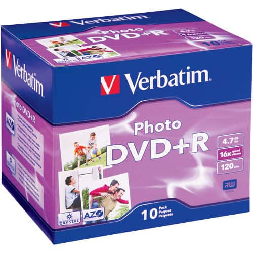B&H Photo - Verbatim DVD+R Recordable Photo Disc in Jewel Case (Pack of 10) - $0.99 + tax and free shipping (YMMV on free shipping?)