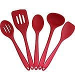 Silipro Premium Silicone Utensil Set with Solid Nylon Core, 5 Piece $18.99 & FREE Shipping