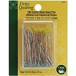 Dritz Quilting Crystal Glass Head Pins, 1-7/8-Inch, 100 Count $4.49 & FREE Shipping