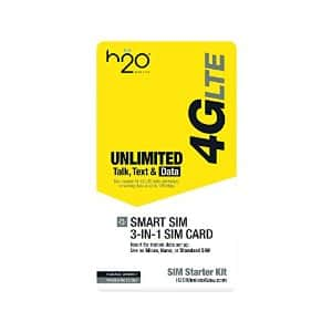 H2O 3-in-1 SIM Card with $10 FREE Airtime + 90 Days Validity