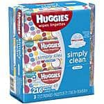 Huggies Simply Clean 3pk Wipes -$1.97- Walmart - YMMV