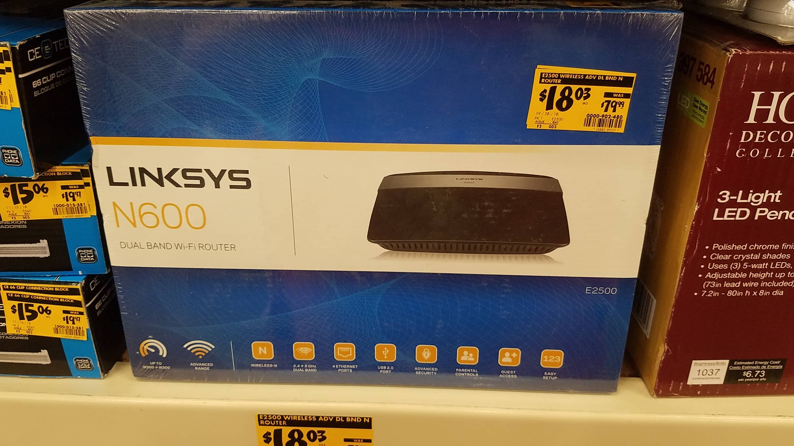 Linksys N600 Dual band WiFi router $18 03 at Home Depot YMMV