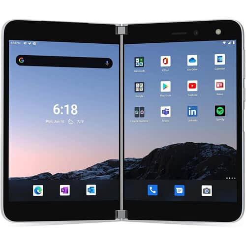 Microsoft Surface Duo Dual-SIM 256GB Smartphone (Unlocked, Glacier) $729