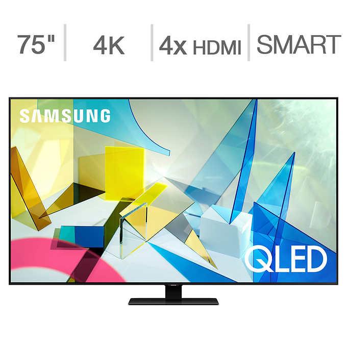 "75"" QLED  Samsung Q8DT (Q80T) w/3 year Square Trade Warranty - $2,599 $2599.99"