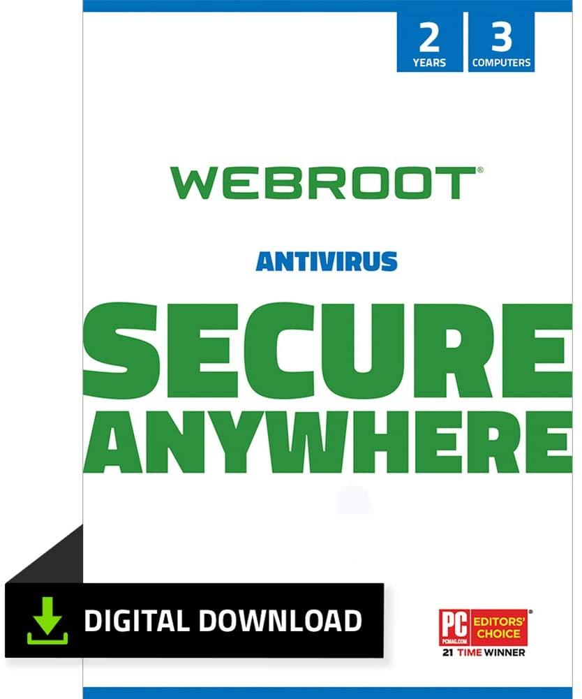 Webroot SecurityAnywhere Antivirus 2Years/3 Devices $19.99