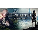 Green man gaming Civilization sale 10% to 75% off