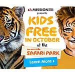 Free For Kids 11 Years Old or Younger - San Diego Zoo and San Diego Zoo Safari Park From October 1 to 31, 2015