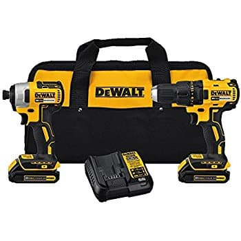 DEWALT DCK277C2 20V MAX Compact Brushless Drill and Impact Combo Kit - $179