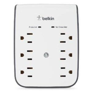Belkin 6-Outlet Dual USB Ports Wall Mount Surge Protector $12 - Amazon