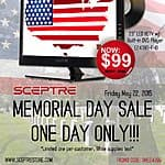 One Day Memorial Day Sale:  Sceptre 23-inch LED HDTV w/ Built-in DVD player ONLY $99.