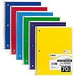 Mead Spiral Notebook, 1 Subject, 70 College Ruled Sheets, Assorted Colors, 6 PACK $6 @Amazon FS w/Prime