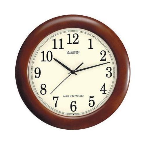 La Crosse Technology WT-3122A 12 1/2-Inch Wood Atomic Analog Clock $25