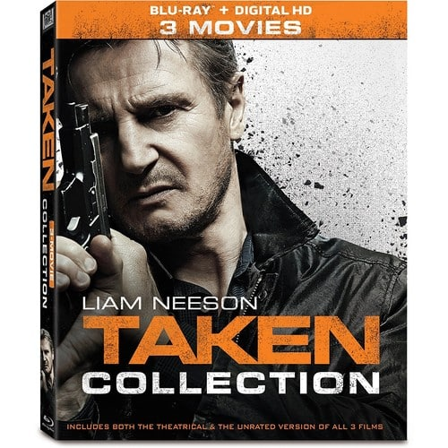 Blu-Ray Taken 3 Collection Including Unrated Ver + Digital HD (Movies Anywhere) Copy - Amazon or  Bestbuy $12.99