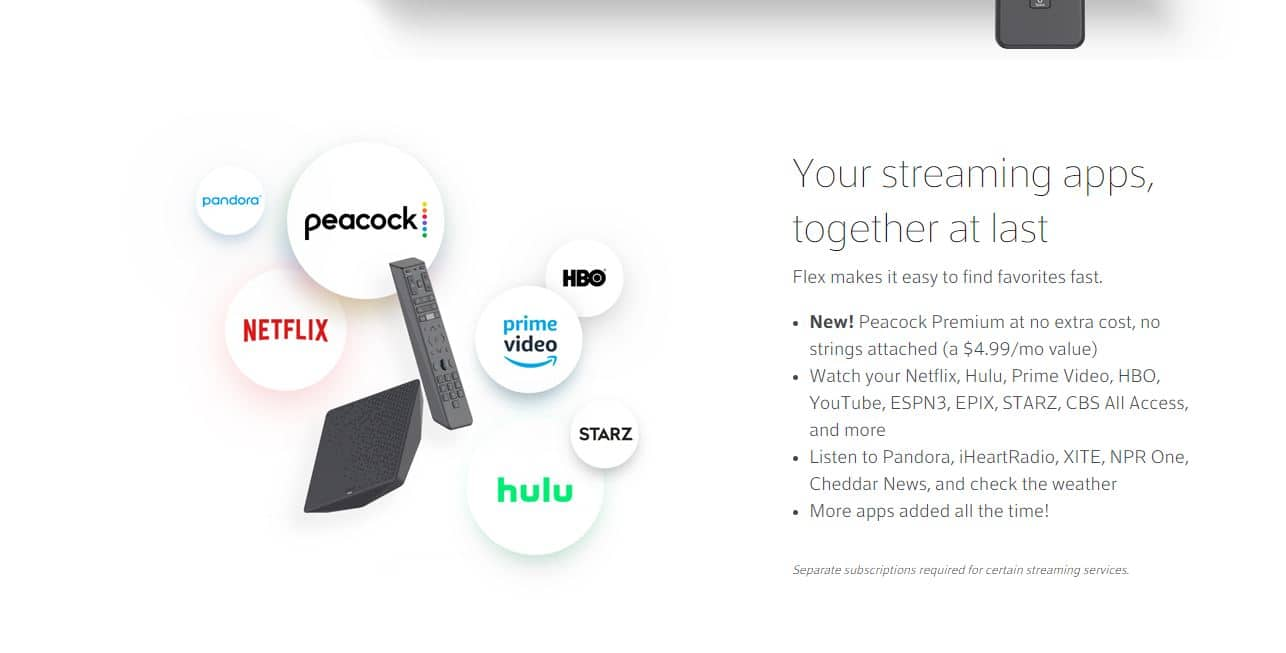 Xfinity Flex 4K  streaming device w/peacock plus free Only if you just have internet