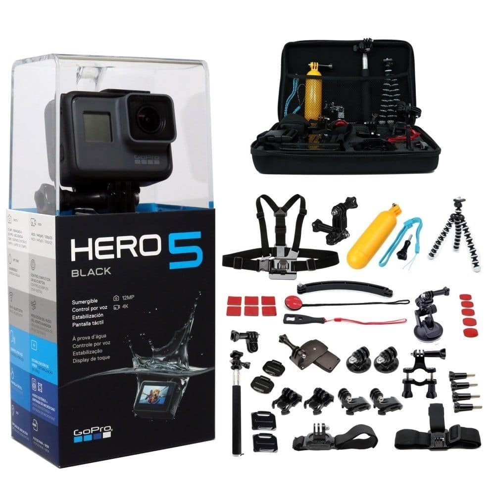 GoPro Hero 5 + 45pc Accessory Kit $299 F/S no tax