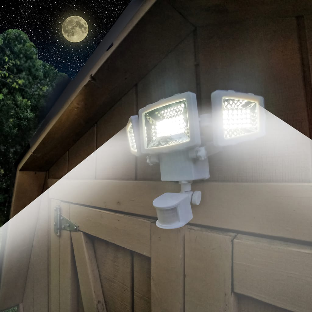 Westinghouse 2000 Lumen Triple Head Solar Security Light, Wireless Motion Activated Kit (White Finish) $24.99