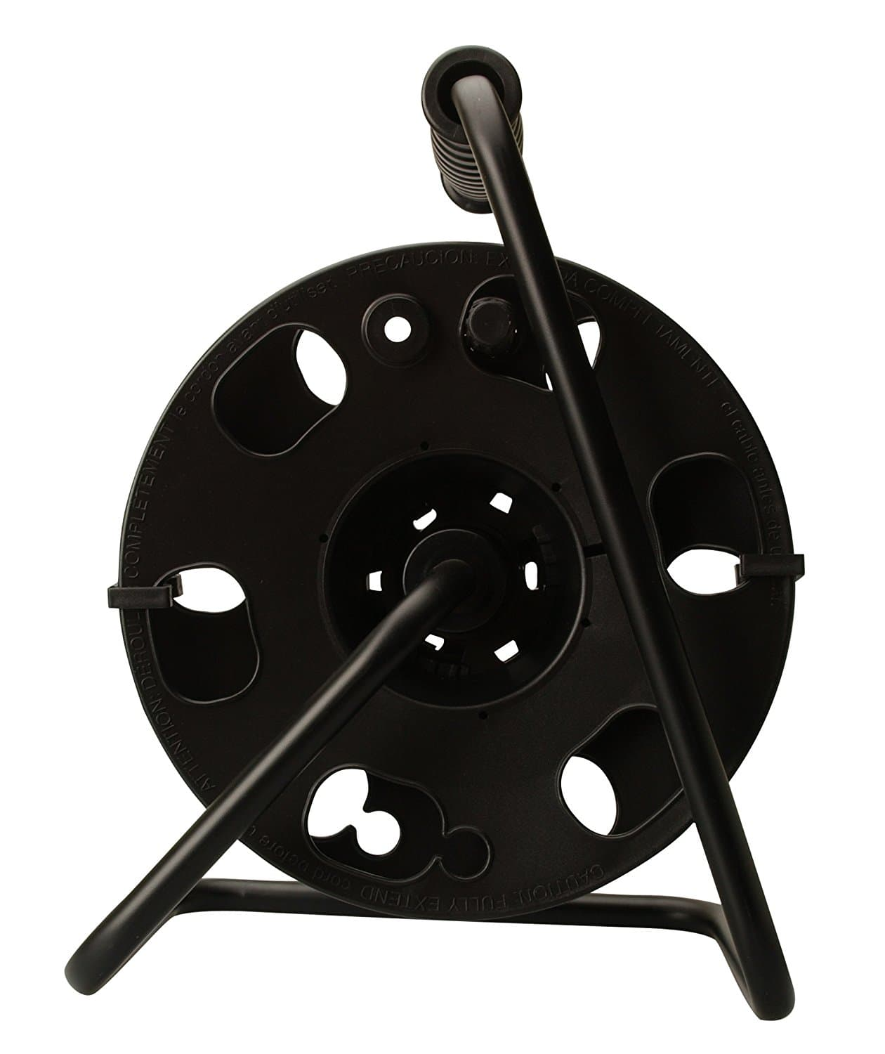 Amazon Prime Members: Woods Metal Cord Reel Stand In Black (Holds Up To 150 Feet 16/3 Cords) $8.60