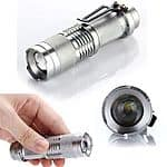 Zoomable 700 Lumen CREE Q5 LED Flashlight Rugged Skid Proof/Waterproof design $5.99 + Free Shipping