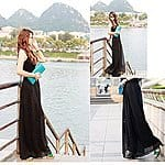 Womens Black Casual Wide Leg Bohemia Lounge Pants $9.99 + Prime Eligible or FSSS @ Amazon.com