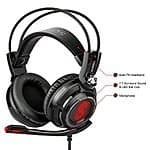Etekcity Scroll H7PX+ 7.1 Surround Sound Black & Red Ergonomic Gaming Headset for $32.99 AC + Free Shipping @ Amazon.com
