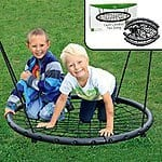 "Giant 40"" Outdoor Tree ""Spider Webbing Bottom"" Childrens Swing + Mounting Accessories $69.99 + Free Shipping"