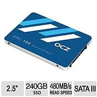 "TigerDirect Deal: 240 GB OCZ ARC 100 2.5"" MLC Internal SSD for $69.99 AR, 128 GB HP X755W USB 3.0 Flash Drive for $27.99 + S&H @ TigerDirect.com"
