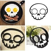 Amazon Deal: Ozera 2-Pack Set of Silicone Egg Mold Rings (Purple Owl & Black Skull Shapes) for $5.24 AC + FSSS or FS w/ Prime @ Amazon.com