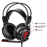 Amazon Deal: Etekcity Scroll H7PX+ 7.1 Surround Sound Black & Red Ergonomic Gaming Headset for $32.99 AC + Free Shipping @ Amazon.com
