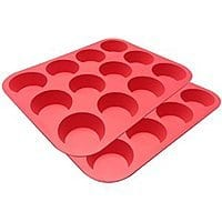 Amazon Deal: Ozera 2-Pack Set of Red Silicone Muffin/Cupcake Pans for $11.19 AC + FSSS or FS w/ Prime @ Amazon.com