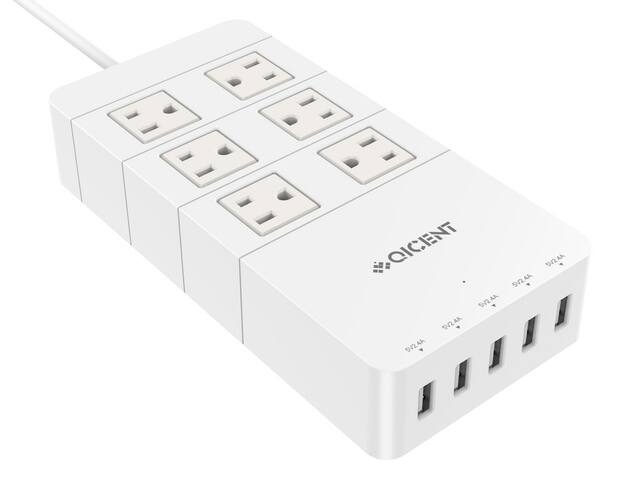urlhasbeenblocked Combo 2500J Power Strips + 5-Port 8A (40W) Smart USB Charging Stations: 2 AC-Outlet Model for $16.99 or 4 AC-Outlet Model for $19.99 + Free Shipping @ Newegg.com