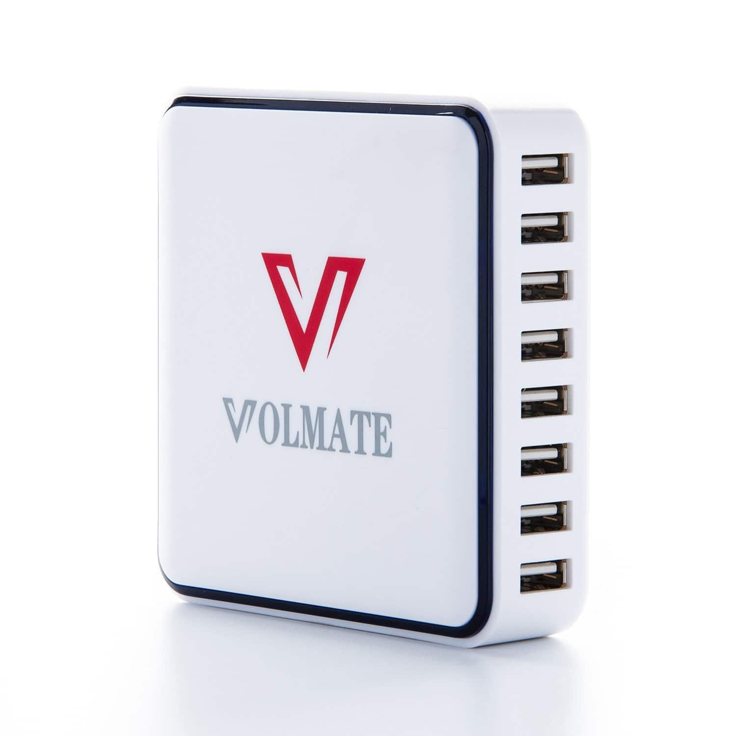 Volmate 12A (60W) 8-Port White Smart USB Desktop Charger with Auto Detect Technology (VOL60W-8P) for $16.97 AC + FSSS or FS w/ Prime @ Amazon.com