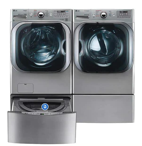 LG 5.2CuFt Mega Capacity Washer with TurboWash Technology 9.0CuFt Mega Capacity ELECTRIC SteamDryer - $1849