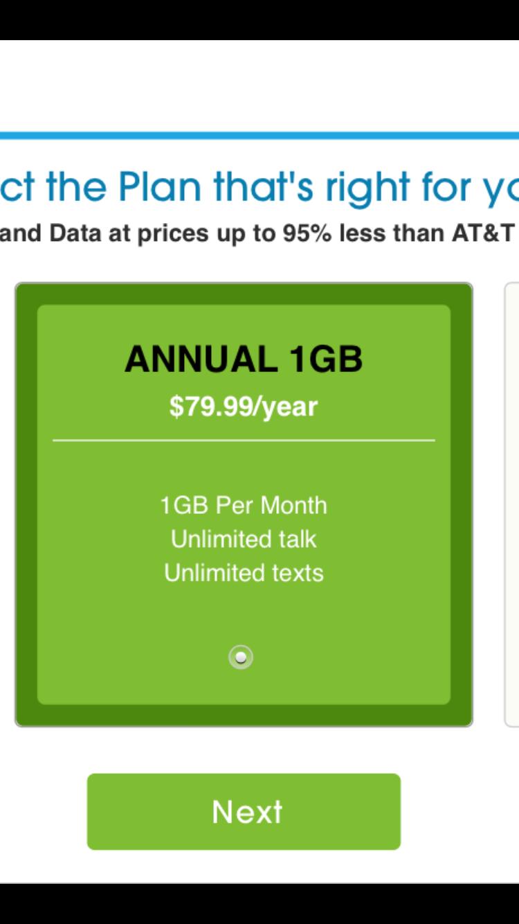 Freedompop unlimited talk/text/1GB plan $79.99
