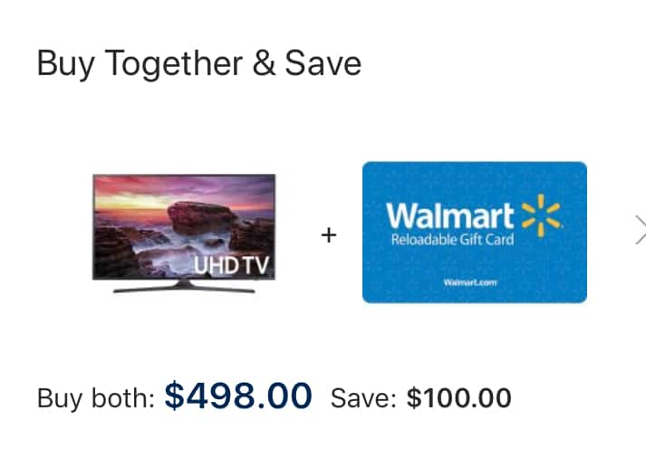 "Samsung 55"" MU6290 + $100 Walmart Gift card for $498"