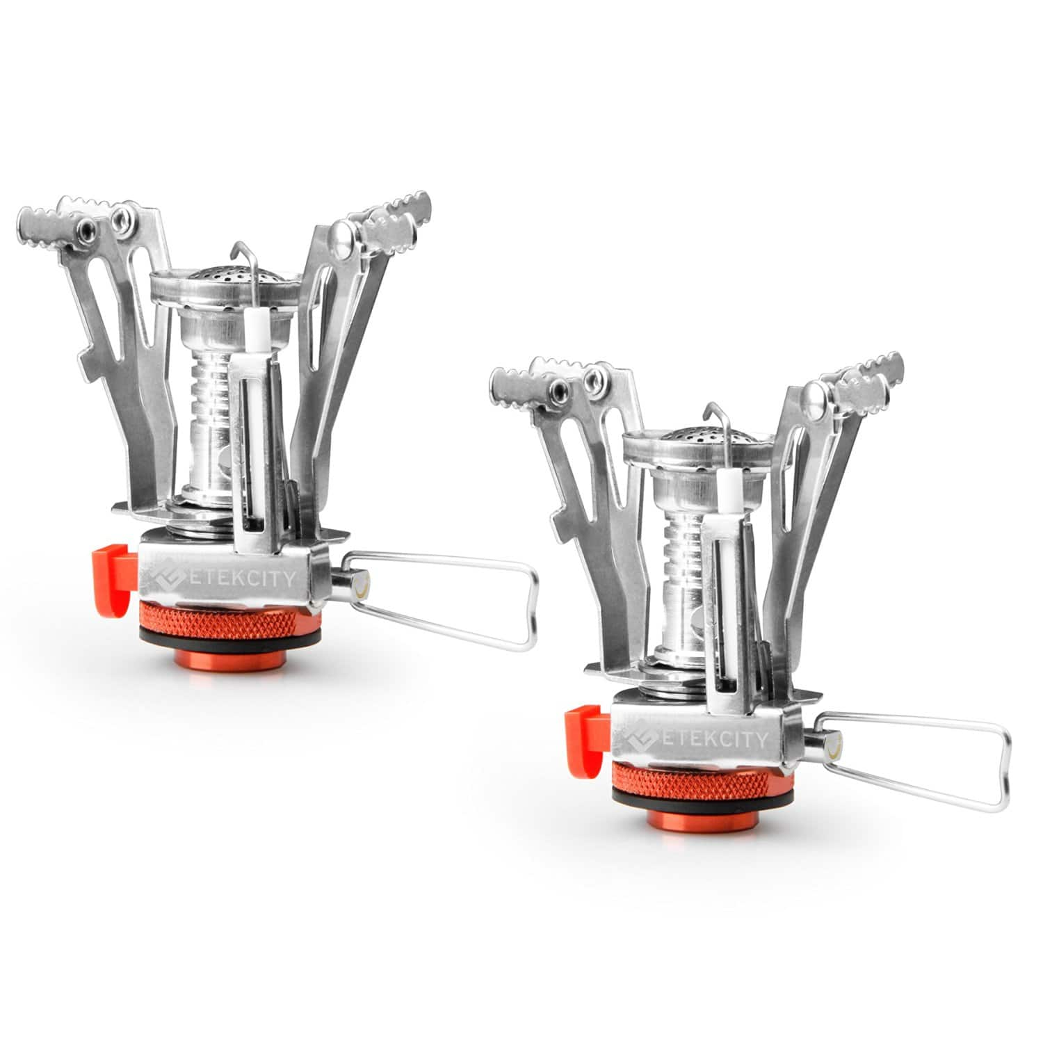 Etekcity 2 Pack Ultralight Mini Outdoor Backpacking Camping Stove with Piezo Ignition (Orange) $12.99 + Free Ship with Prime