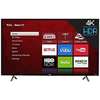 "49"" TCL (49S405) 4K Ultra HD Roku Smart LED TV (2017 Model) - $297.61 + tax w/Free Shipping"